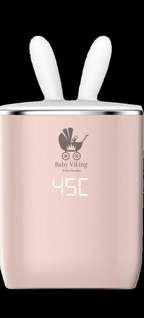 baby viking Bärbar Batteridriven Flaskvärmare Och Pulverbehållare Set